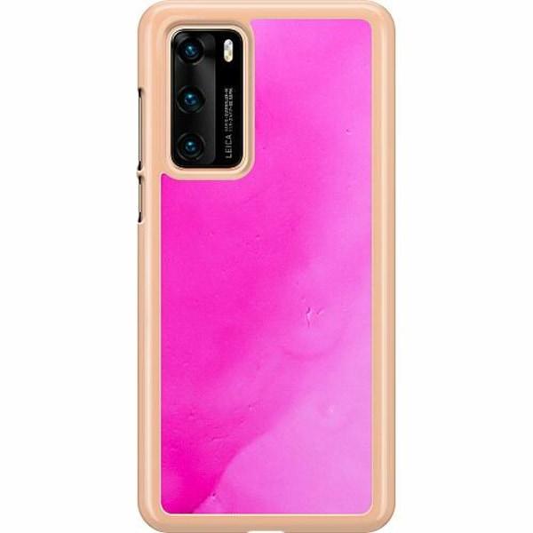 Huawei P40 Hard Case (Transparent) Pinksknip