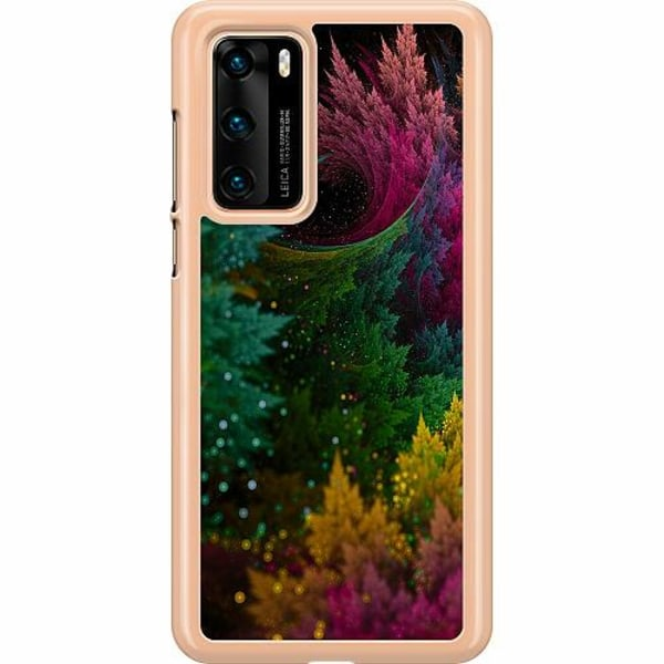 Huawei P40 Hard Case (Transparent) Pixel Forest