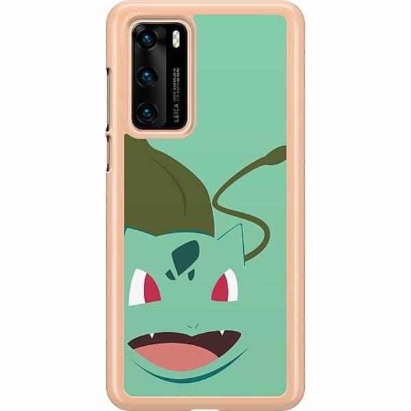 Huawei P40 Hard Case (Transparent) Pokémon - Bulbasaur