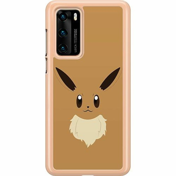 Huawei P40 Hard Case (Transparent) Pokémon - Eevee