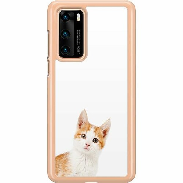 Huawei P40 Hard Case (Transparent) PopUp Cat