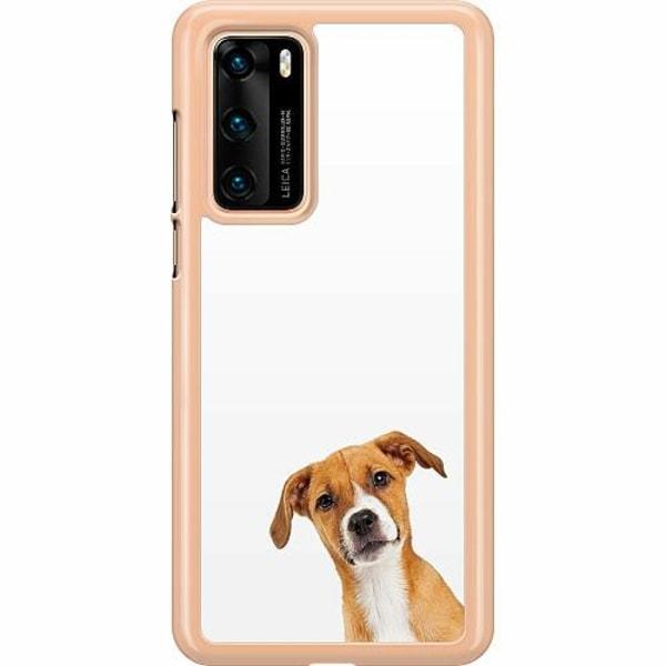 Huawei P40 Hard Case (Transparent) PopUp Dog