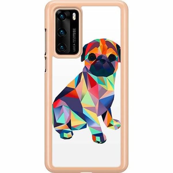 Huawei P40 Hard Case (Transparent) Pug