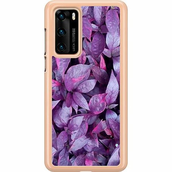 Huawei P40 Hard Case (Transparent) Purple Shrubs