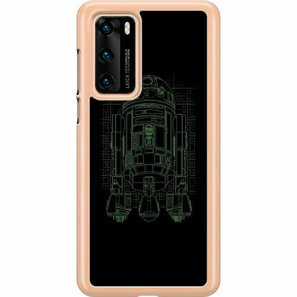Huawei P40 Hard Case (Transparent) r2d2