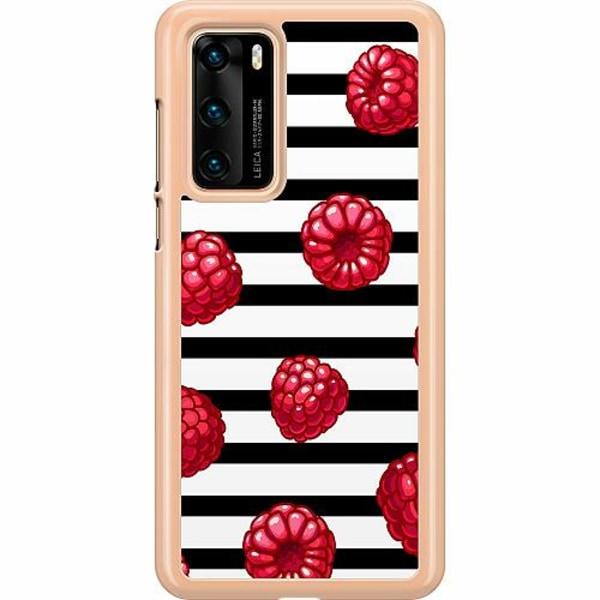 Huawei P40 Hard Case (Transparent) Raspberries