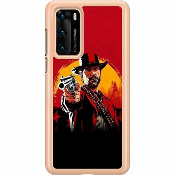 Huawei P40 Hard Case (Transparent) Red Dead Redemption 2