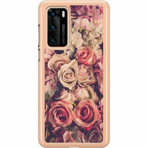 Huawei P40 Hard Case (Transparent) Romantic