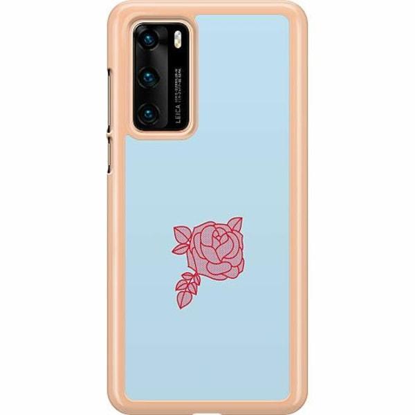 Huawei P40 Hard Case (Transparent) Rose