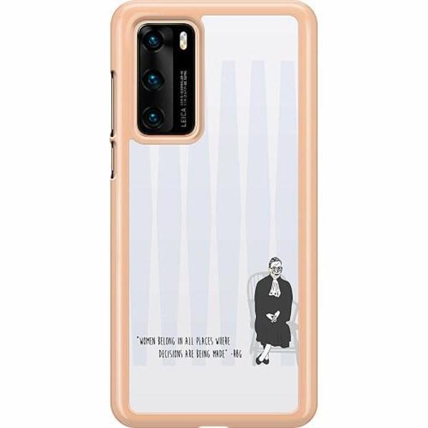 Huawei P40 Hard Case (Transparent) Ruth Bader Ginsburg (RBG)