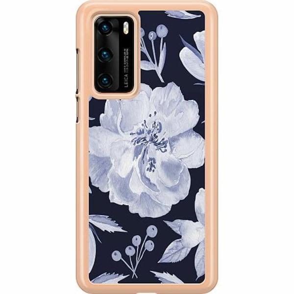 Huawei P40 Hard Case (Transparent) Rythm and Blue Hues