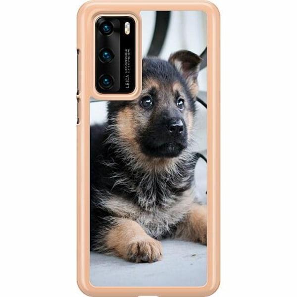 Huawei P40 Hard Case (Transparent) Schäfer Puppy