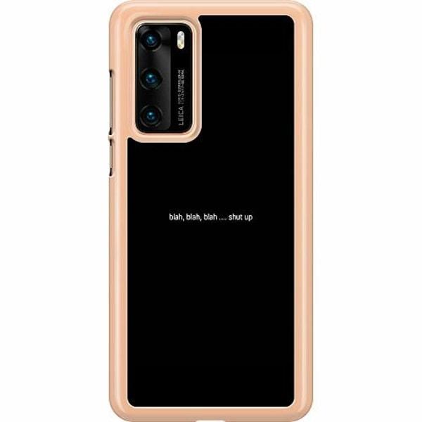 Huawei P40 Hard Case (Transparent) shut up