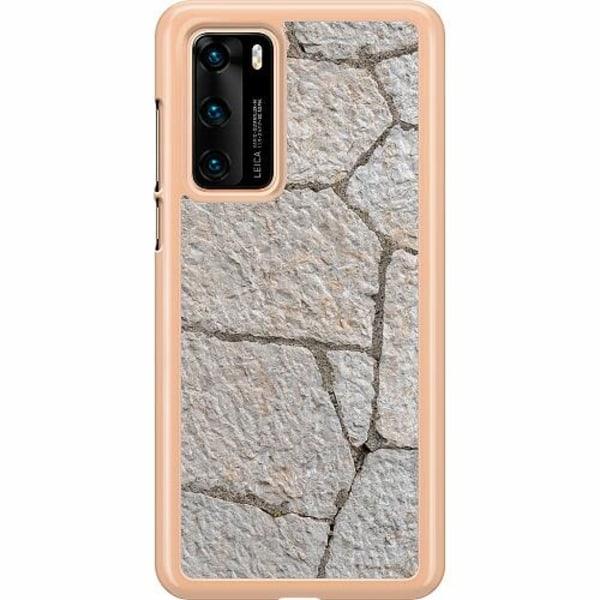 Huawei P40 Hard Case (Transparent) Sidewalk