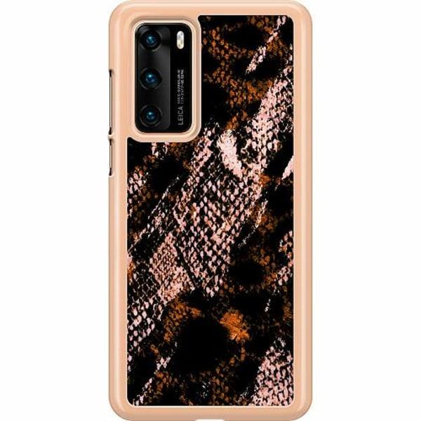 Huawei P40 Hard Case (Transparent) Snakeskin B