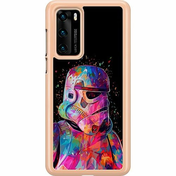 Huawei P40 Hard Case (Transparent) Star Wars Stormtrooper