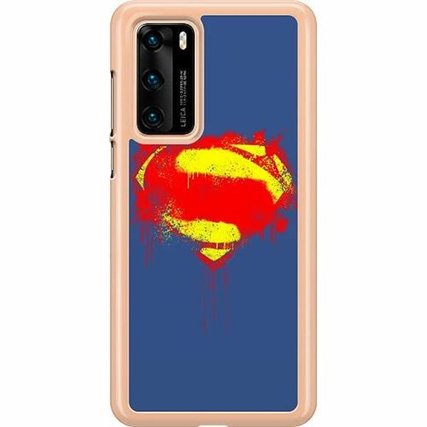 Huawei P40 Hard Case (Transparent) Superman Splat