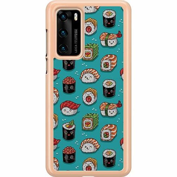 Huawei P40 Hard Case (Transparent) Sushi Sweeties