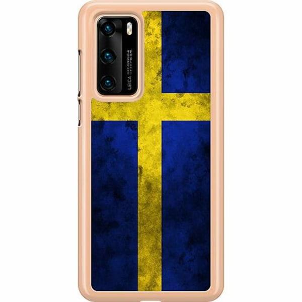 Huawei P40 Hard Case (Transparent) Sverige Flagga