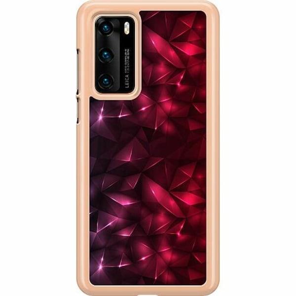 Huawei P40 Hard Case (Transparent) Tempting Red