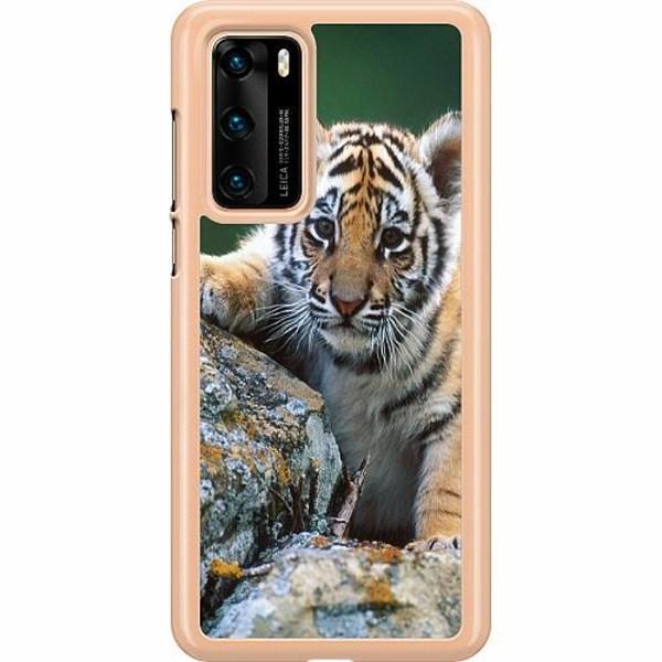 Huawei P40 Hard Case (Transparent) Tiger