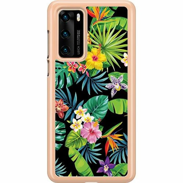 Huawei P40 Hard Case (Transparent) Tropical Vibe