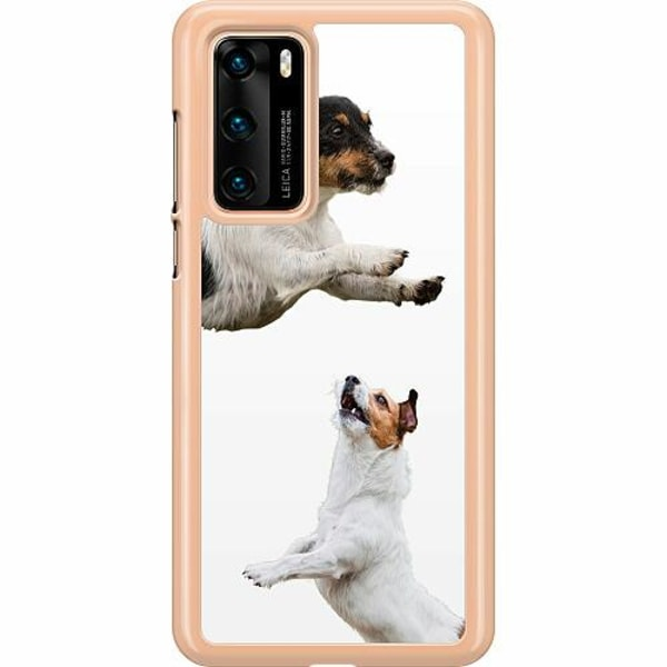 Huawei P40 Hard Case (Transparent) Two Jacks on a Russell