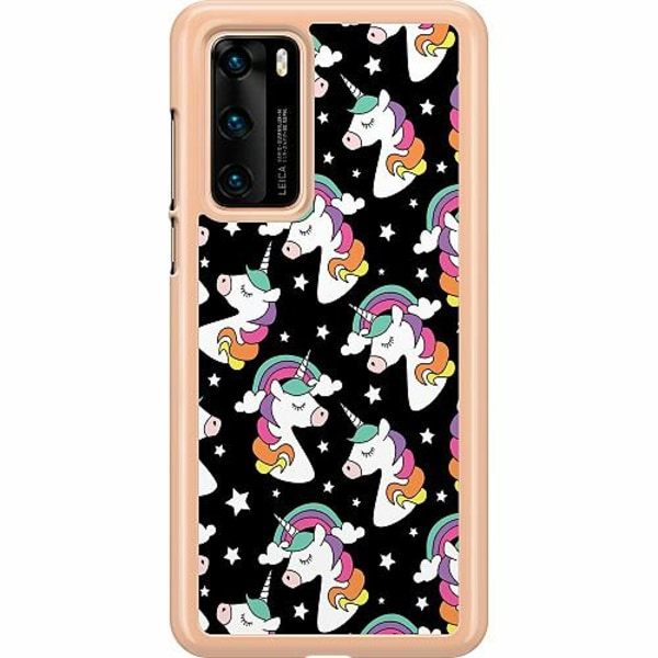 Huawei P40 Hard Case (Transparent) Unicorns Are Real
