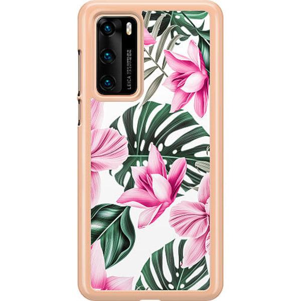 Huawei P40 Hard Case (Transparent) Blommor