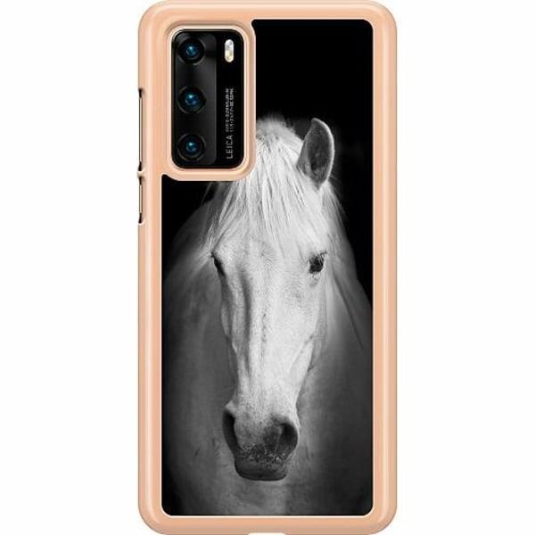 Huawei P40 Hard Case (Transparent) Vit Häst