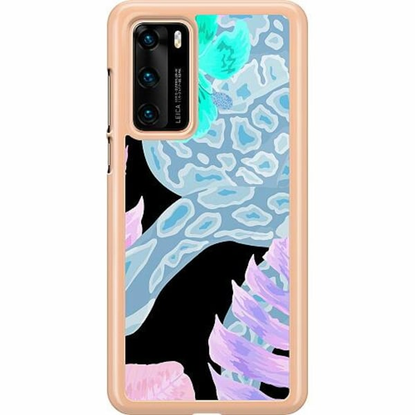 Huawei P40 Hard Case (Transparent) Wanded Inverted