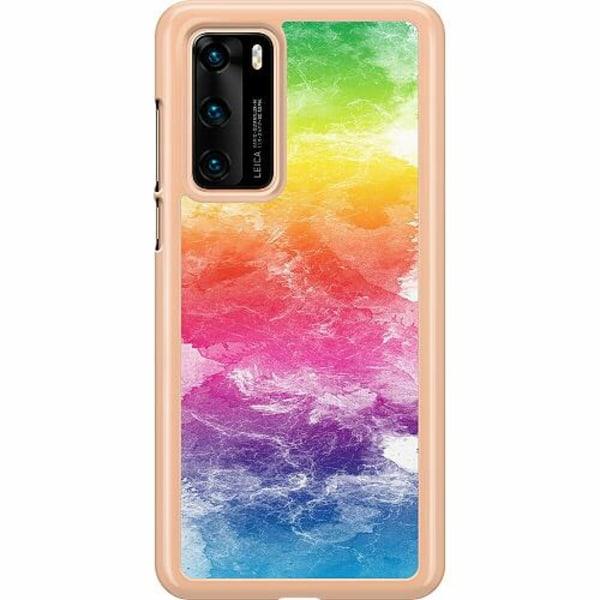 Huawei P40 Hard Case (Transparent) Watercolor Fade