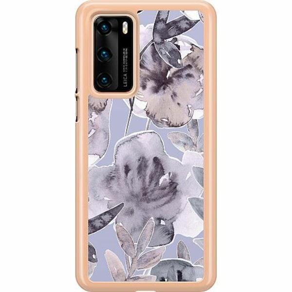 Huawei P40 Hard Case (Transparent) Watermark Petals