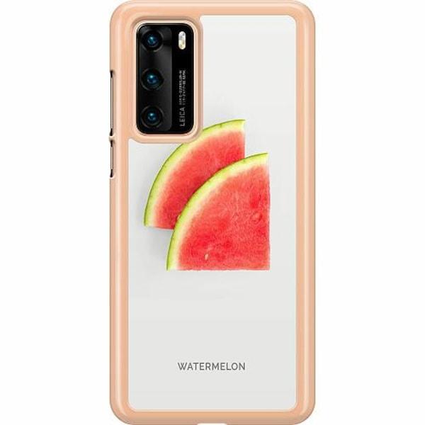 Huawei P40 Hard Case (Transparent) Watermelon