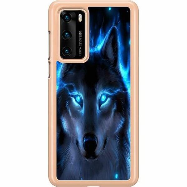 Huawei P40 Hard Case (Transparent) Wolf
