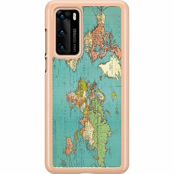 Huawei P40 Hard Case (Transparent) World Map