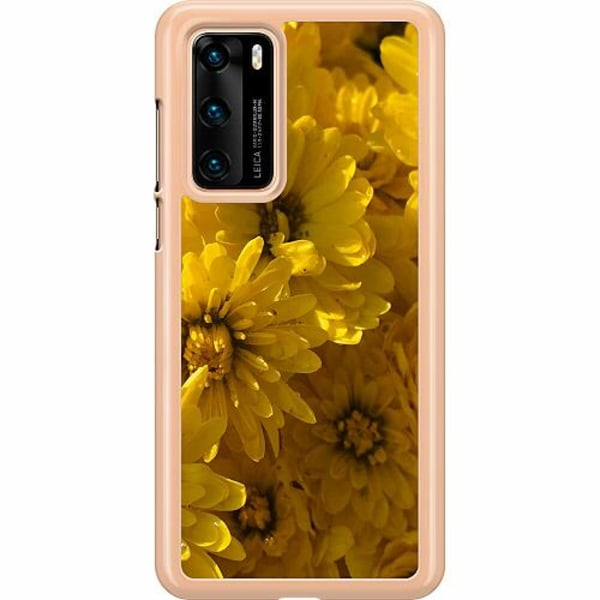 Huawei P40 Hard Case (Transparent) Yellowy. Kinda