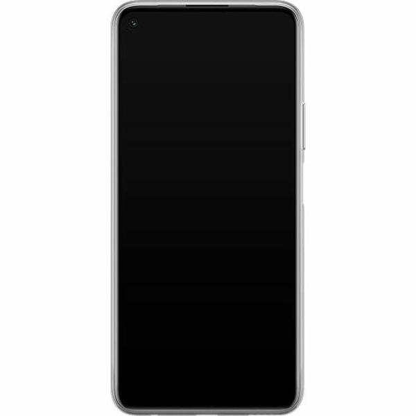 Huawei P40 Lite 5G Mjukt skal - Floral Pattern Black