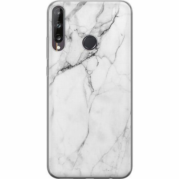 Huawei P40 Lite E Mjukt skal - Marmor