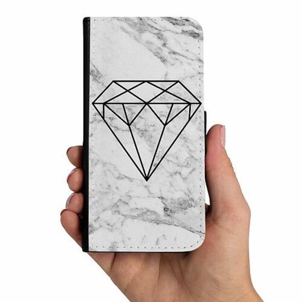 Samsung Galaxy A40 Mobilskalsväska Marmor Diamant