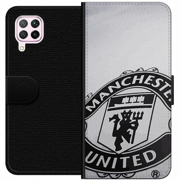 Huawei P40 Lite Wallet Case Manchester United FC