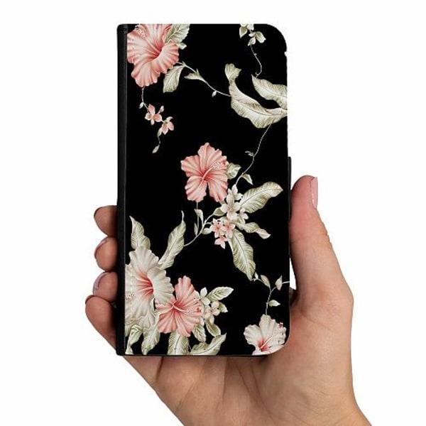Samsung Galaxy A40 Mobilskalsväska Floral Pattern Black