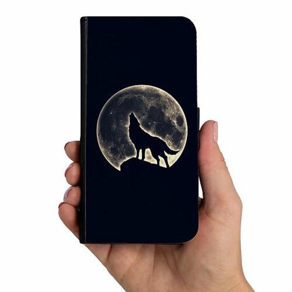 Samsung Galaxy A40 Mobilskalsväska Howling Moon Wolf