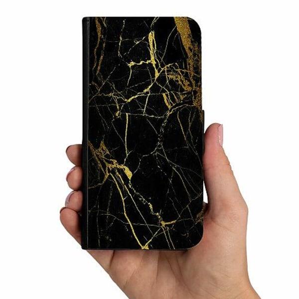 Samsung Galaxy A40 Mobilskalsväska Marble Black&Gold