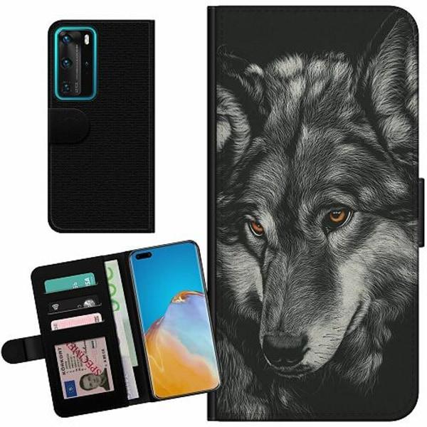 Huawei P40 Pro Billigt Fodral Wolf / Varg
