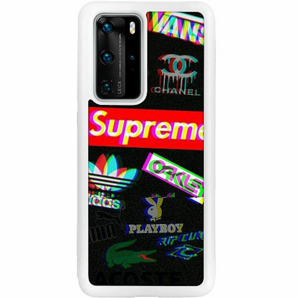 Huawei P40 Pro Soft Case (Vit) 3D