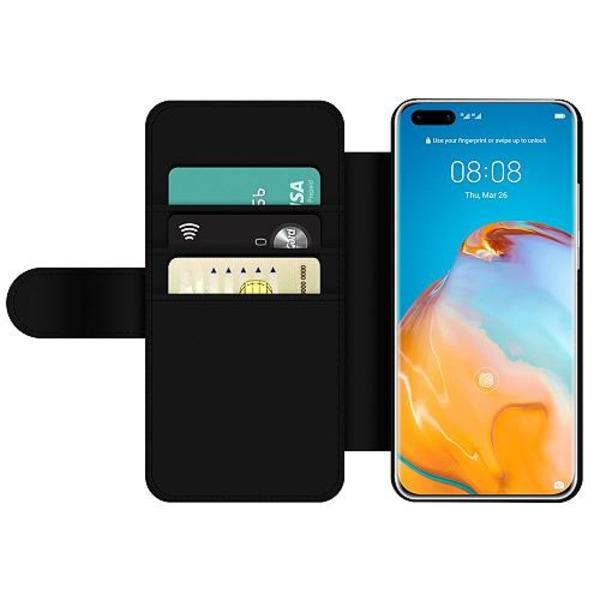 Huawei P40 Pro Wallet Slim Case Blommor
