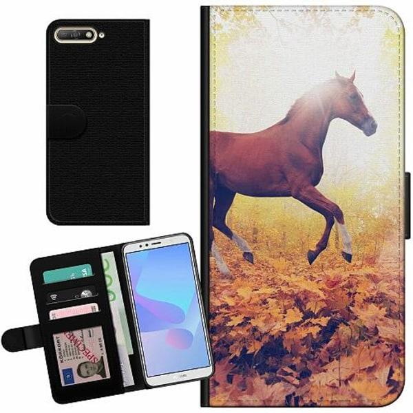 Huawei Y6 (2018) Billigt Fodral Häst / Horse