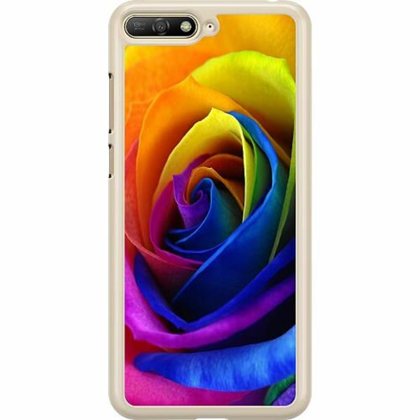Huawei Y6 (2018) Hard Case (Transparent) Rainbow Rose