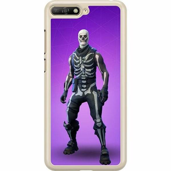Huawei Y6 (2018) Hard Case (Transparent) Fortnite Skull Trooper